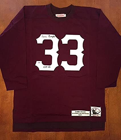 cheap for discount 933ed 32965 Sammy Baugh Autographed Jersey - Mitchell & Ness + Hof 63 ...