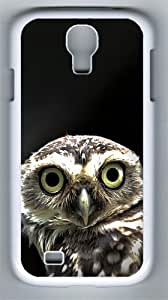 Owl in the Dark PC Hard Case Cover For Samsung Galaxy S4 SIV I9500 Case and Cover White