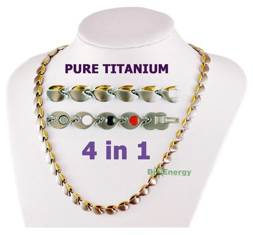 Pure Titanium Germanium Magnets necklace Power Energy Bio Balance 4in1 Halskette 278 by BioEnergy International