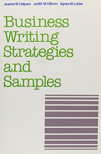 Business Writing Strategies and Samples