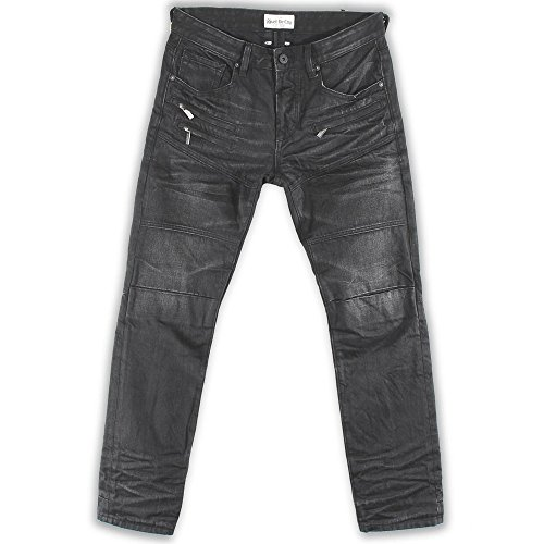 Rivet De Cru Senica Rock Wash Moto Tapered Jeans by Rivet De Cru Denim