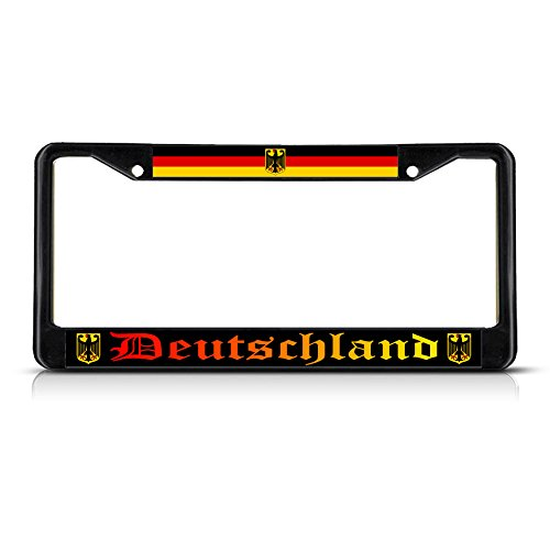 with German Flag with Seal License Plate Frame Tag Holder Cover Fastasticdeals Deutschland