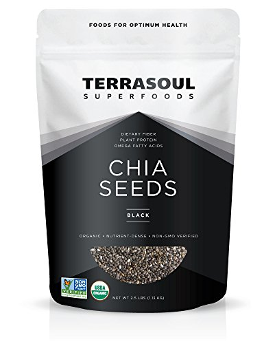 Terrasoul Superfoods Organic Black Chia Seeds, 2 Pounds