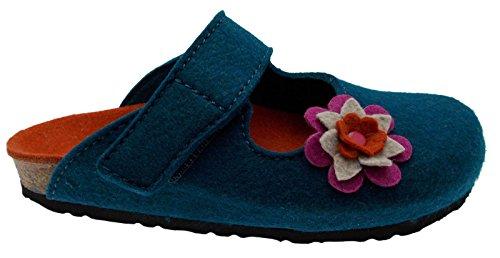 Bande Velcro toile cirée bleue art 19602 fleurs