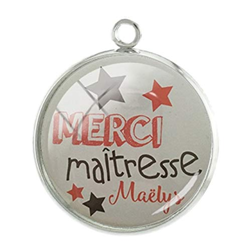 (Pendants -1Pc French Super Teachers Pictures Pendants Charms Students Personalized Handmade 20Mm Glass Cabochon DIY Jewelry - Mm80)