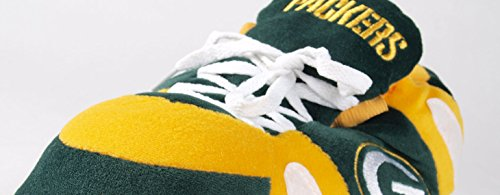 Slippers Feet Packers NFL Happy Mens and Bay OFFICIALLY Feet Sneaker Womens Slippers Green Comfy LICENSED Avqgwg