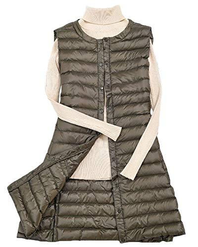 Down Coat Ultra Weight Light Quge Armygreen Puffer Packable Gilet Jacket Vest Women's Tq5xw4naF6