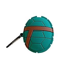 Rertnocnf 3D Vivid Distinctive Turtle Shell Design Airpods Case Kids Girls Women Cute Animal Wireless Charging Earphone…