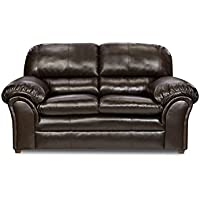 Simmons Upholstery 6159-02 Vintage Riverside Bonded Leather Loveseat