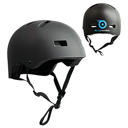 Bluewheel Casco H30 – Estructura de 3 Capas para Mayor Seguridad y Comodidad, con Sistema de ventilación, Ajuste, diseño Color Negro Mate - Protege a ...