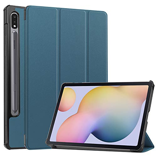Ratesell Case Cover with Auto Wake Sleep for Samsung Galaxy Tab S7 11 Inches SM-T870, SM-T875 Blackish Green