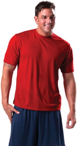 Zorrel Z500 Syntrel Extreme Moisture Wicking Textured Training Tee (X-Large, Black)