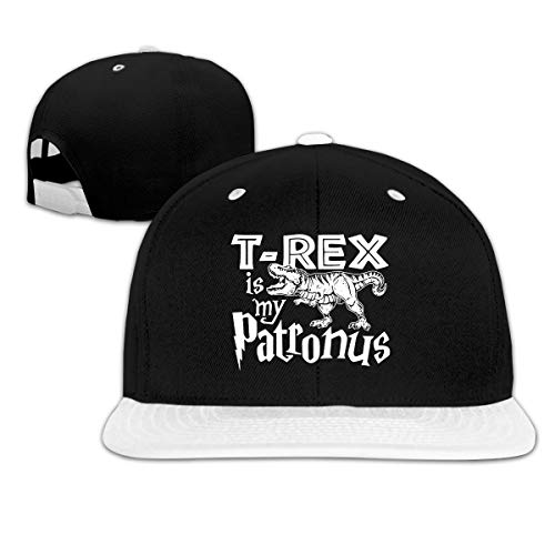 Puyiyua Rock Punk Baseball Cap T-Rex is My Patronus Dinosaur Unisex Trucker Hat Hip-hop Snapback White