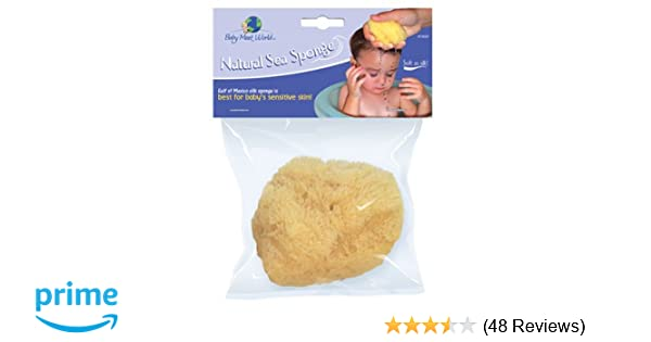 Organically Grown Baby Bath Sponge Large 4 to 4.5 inches