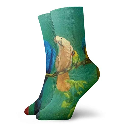 WEEDKEYCAT Beautiful Parrot Party Adult Short Socks Cotton Cool Socks for Mens Womens Yoga Hiking Cycling Running Soccer Sports