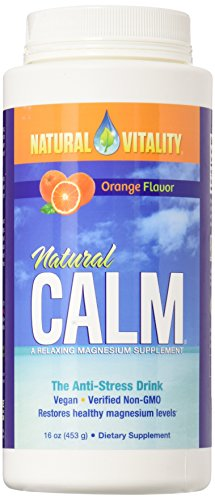 Natural Vitality Natural Magnesium Calm, Orange (2 Bottles of 16 ()