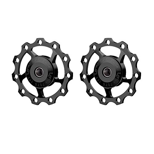 - Lerway A-06 11T Bike Cycling Bicycle Aluminium Rear Derailleur Jockey Wheel Pulley Guide Roller Idler (Black, 2 pieces)