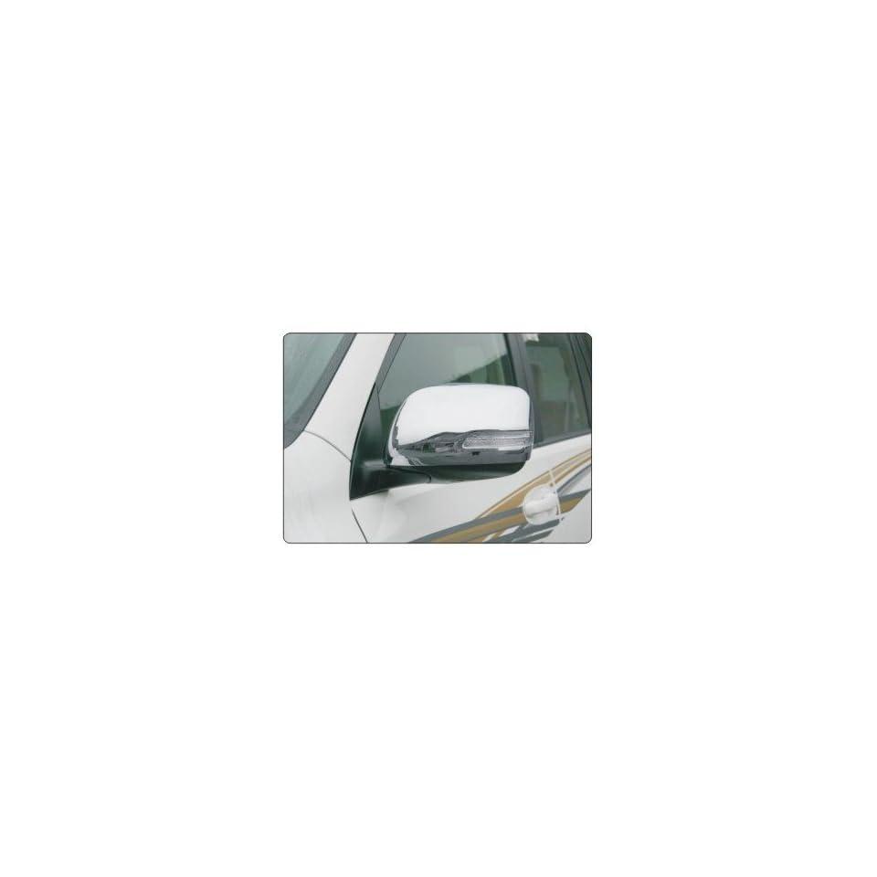 ABS Chrome Rearview Side Mirror Cover Trim With LED For Toyota Land Cruiser Prado FJ150