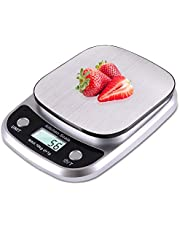 Fuzion Food Scale for Baking and Cooking, 22lb Digital Kitchen Scale with Tare, Food Scale Grams and Ounces, 1g/0.1oz Increments, Stainless Steel (Battery Included)