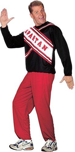 [Morris Costumes Men's CHEERLEADER SPARTAN GUY, Plus size 48-52] (Guy Cheerleader Costumes)