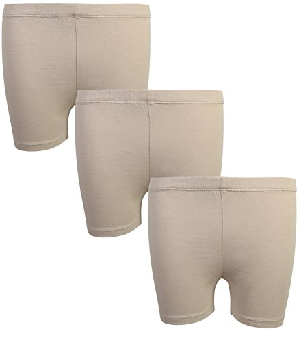 - Beverly Hills Polo Club Girls School Uniform Bike Short (3 Pack), Khaki, 7/8'
