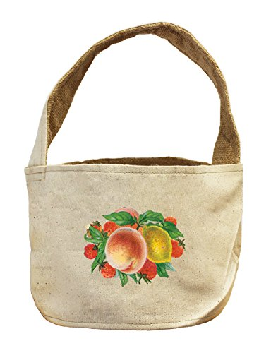 Canvas And Burlap Storage Basket Strawberry Mix Fruit By Style In Print (Fruit Gift Baskets Tampa)