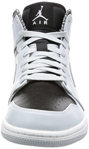 Platinum pure Argent Mtallique argent Jordan Mid Blanc Pour Air 1 Nike Baskets Hommes qBwz4nS