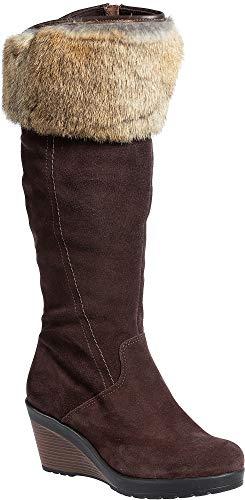 Women's Hershey Wool-Lined Waterproof Suede Boots with Rabbit Fur ()