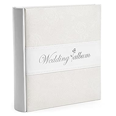 Wedding Gift Photo Album - Holds 200 4x6 Inch Photos - by Bay Area Housewares