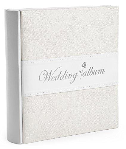 Wedding Photo Album - Holds 200 4x6 Inch Photos - by Monarch Housewares