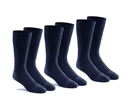 Fox River Men's Wick Dry Altura Crew Sock Liner, 3 Pack (Dark Navy, Large)