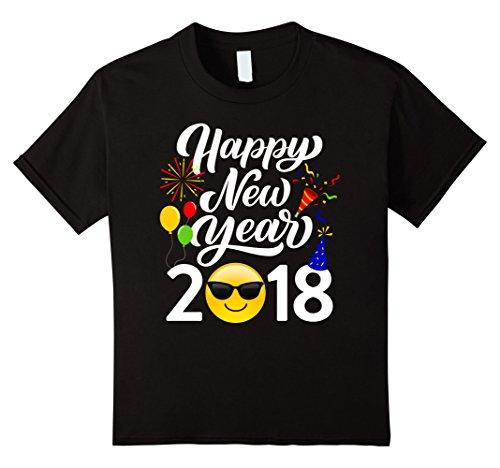 Kids Happy New Year 2018 Sunglasses Emoji T-Shirt 12 - Year's New Sunglasses