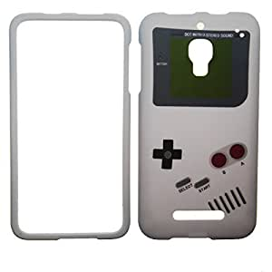 IMAGITOUCH ® Alcatel One Touch Fierce 7024 7024W 7024T T-Mobile, Metro PCS Prepaid Snap On Hard Case Cover Protective Gear Matte Skin - Old School Retro Gameboy Game Boy Design