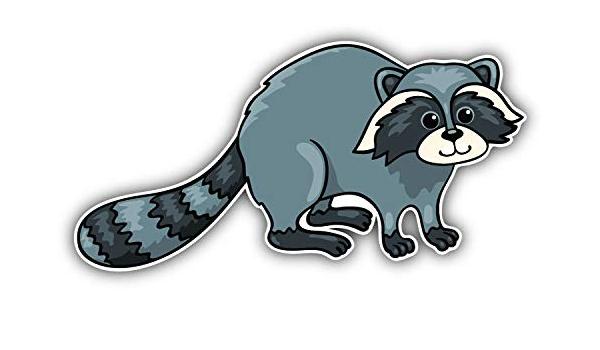 Raccoons Sticker Vinyl Decal Wall Laptop Window Car Bumper Sticker 5