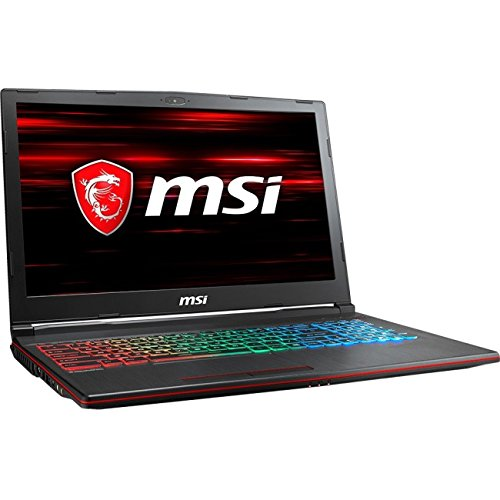 MSI GP63 Leopard-013 120Hz 3ms 94%NTSC Performance Gaming Laptop i7-8750H (6 cores) GTX 1060 6G, 16GB 128GB + 1TB, 15.6""