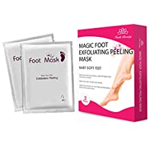 Faith Beauty Exfoliating Foot Peel Mask For Softer, Smooth Feet- Gently Peel Away Calluses & Dead Skin (2 Pack)