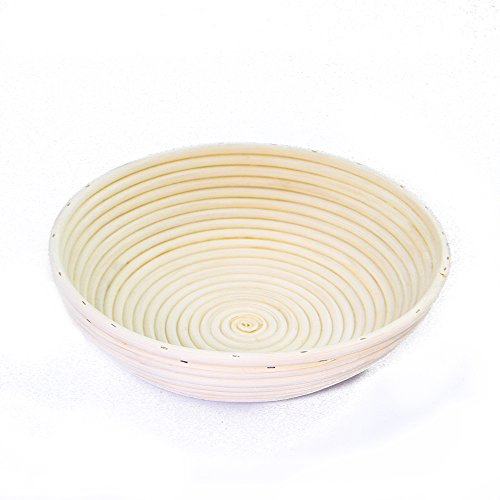 FidgetGear Baking Basket Round Shape Rattan Basket Bread Dough Proving Brotform Bowl Cloth Cover