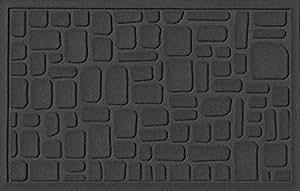 Aqua Shield Stone Path Mat, 2 by 3-Feet, Charcoal