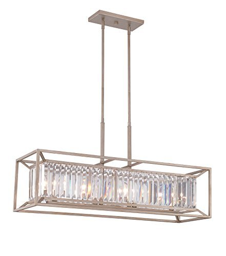 Designers Fountain 87438-AP Linares 4 Light Linear Chandelier ()