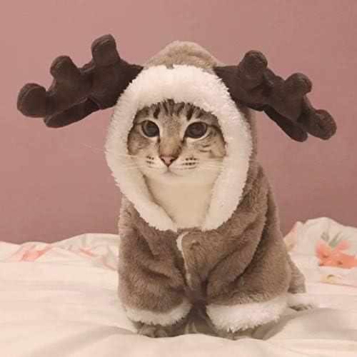XZHH Invierno Gato Ropa Caliente Pelo Mascota Ropa Gatitos Vestido Ropa Gato Chaqueta Chaqueta Mascota Perro Ropa M Marrón: Amazon.es: Productos para mascotas