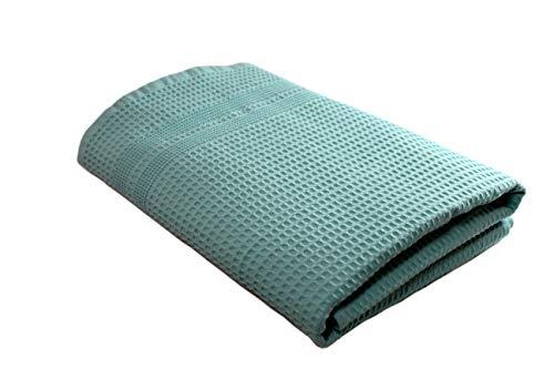 - Gilden Tree Quick Dry Bath Towel Waffle Weave Luxury Bath Towels - Thin Eco-Friendly Seafoam Blue Towels for Bathroom, Gym, Beach, Boat, Spa, Travel - Shower Towel (Seafoam)