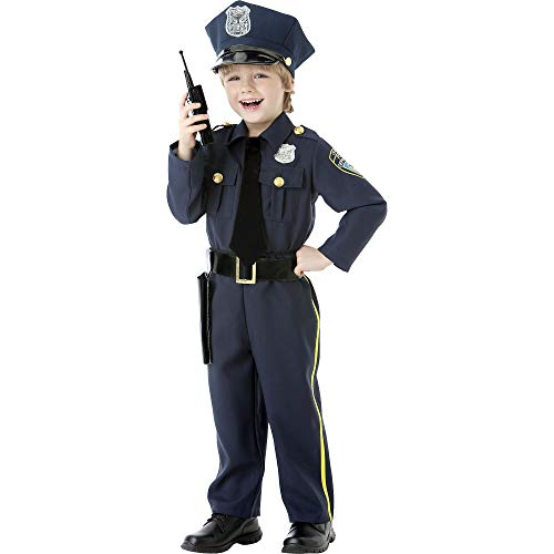 Garbage Man Halloween Costume Toddler (AMSCAN Classic Police Officer Halloween Costume for Toddler Boys, 3-4T, with Included)
