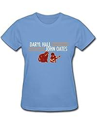 Women Daryl Hall and John Oates Tour Classic Outdoor Sky T-Shirt Short Sleeve