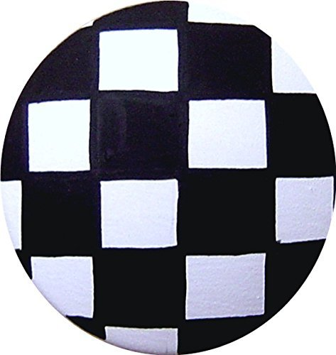 Hand Painted Black and White Checks Checkerd Knobs Decorative Dresser Knobs Cabinet Knobs Wood Knobs Kids Drawer Knobs