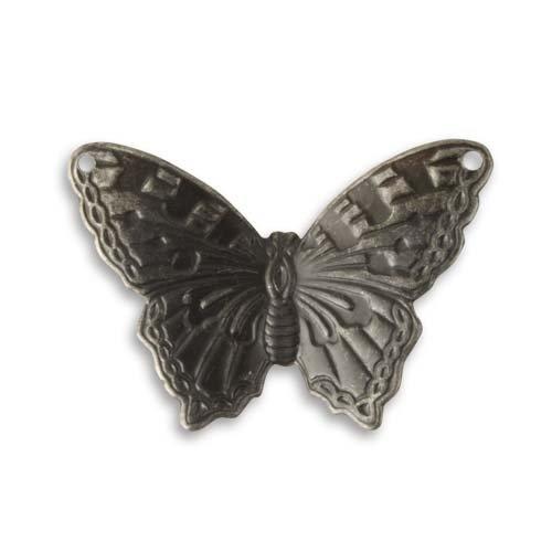 Vintaj Arte Metal Summer Azure Butterfly 2-Hole Pendant 28x29mm (1)