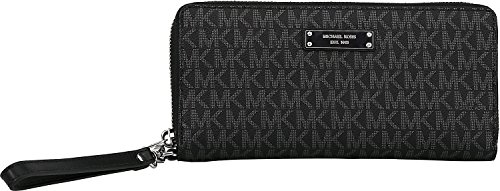 Michael Kors Jet Set Signature Travel Wristlet, Black by MICHAEL Michael Kors