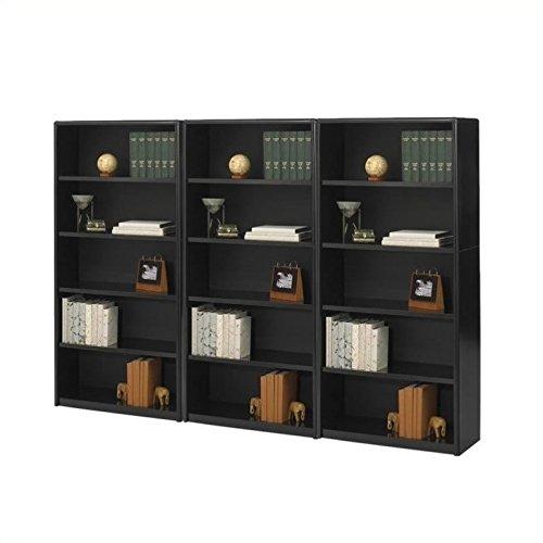 (Safco ValueMate 5 Shelf Wall Economy Steel Bookcase in Black )