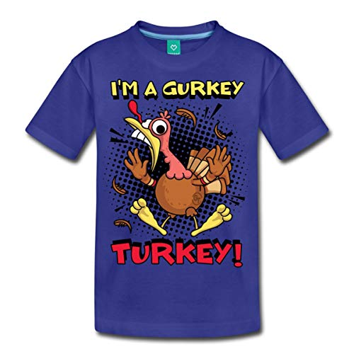 FGTeeV I'm A Gurkey Turkey Kids' Premium T-Shirt, Youth XL, Royal - Toys For Fgteev Kids Merch