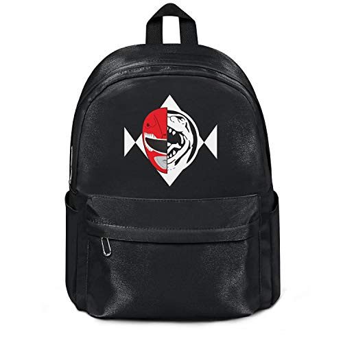 Womens Girl Boys College Bookbag Casual Nylon Durable School Backpack Power-Rangers-Red-Mask- Bag Black