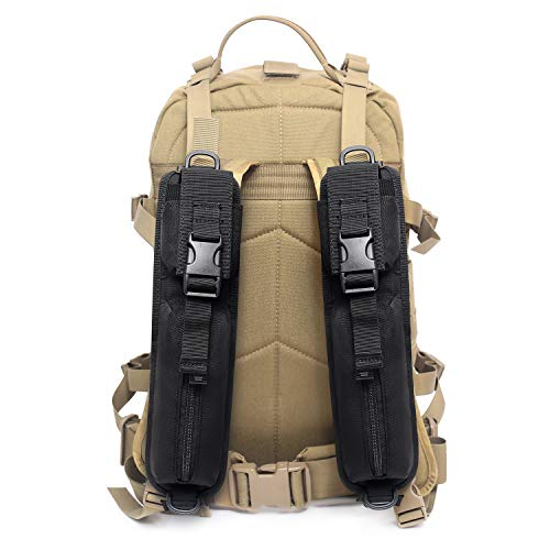 Tactical Molle Accessory Pouch Tactical Backpack Shoulder Strap Bag Hunting Tools Pouch (Backpack Not Included) (2 Pack Black)